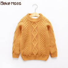 Load image into Gallery viewer, Winter Sweatrs For Girls 2019 Knit Thicken Cotton Kids Boys Sweaters Long Sleeve Toddler Girl Clothes Pullover Children Sweaters