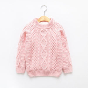 Winter Sweatrs For Girls 2019 Knit Thicken Cotton Kids Boys Sweaters Long Sleeve Toddler Girl Clothes Pullover Children Sweaters