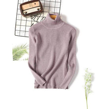 Load image into Gallery viewer, Turtleneck Pullovers Thick Sweater Women Winter Sweaters Knitted Bottoming Tops  Solid Long Sleeves Female Warm Sweatrs Autumn