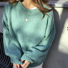 Load image into Gallery viewer, White Loose Oversized Women Sweater Tops Lantern Sleeve Pullovers Korean Knitted 2019 Autumn Winter Sweatr Female Jumpers