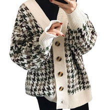 Load image into Gallery viewer, NORMOV Autumn Winter Lattice Knitted Sweater Women Long Cardigans Loose Thick V-Neck Sweaters Casual Female Sweater Coat