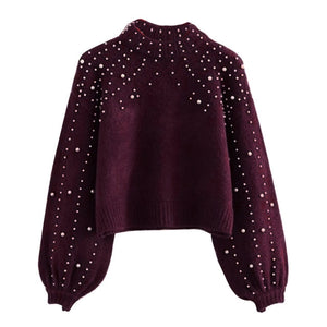 Loozykit Women Knitted Sweaters Long Sleeve Wrap Front Loose Pullover Jumper Tops Round neck sweater ladies pullover 2019