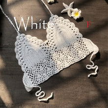 Load image into Gallery viewer, New Knit Crochet Cami Summer Bikini Beach Crop Top Women Bralette Halter Neck Crop Tops