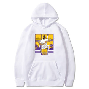 WIPU Men Hoodies LeBron James 23 King Sweatshirts Los Angeles Hooded Thick Lace-up for LA fans gift Autumn Winter