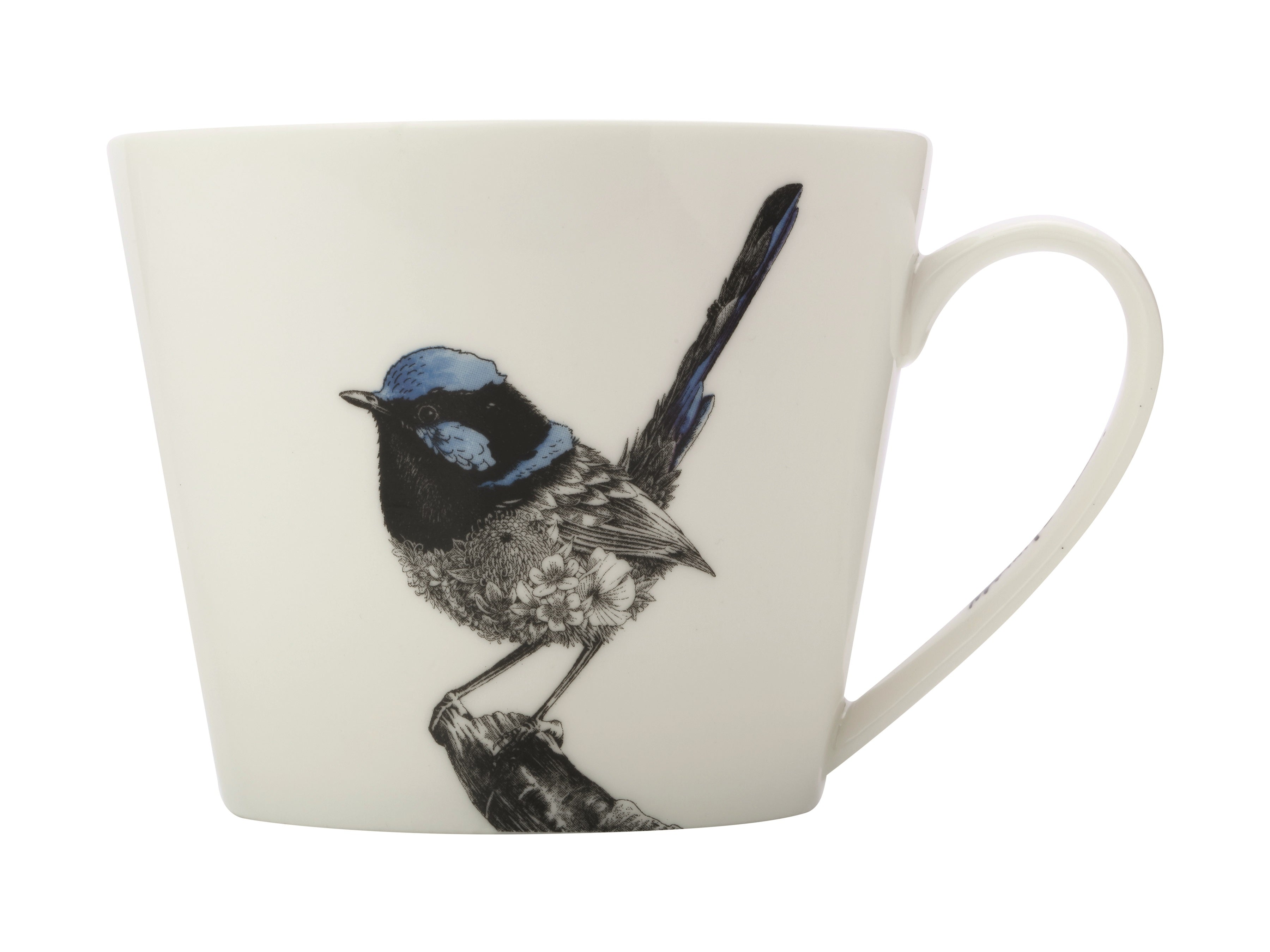 MW Marini Ferlazzo Birds Fairy-wren Mug, Plate and Tea Towel Set