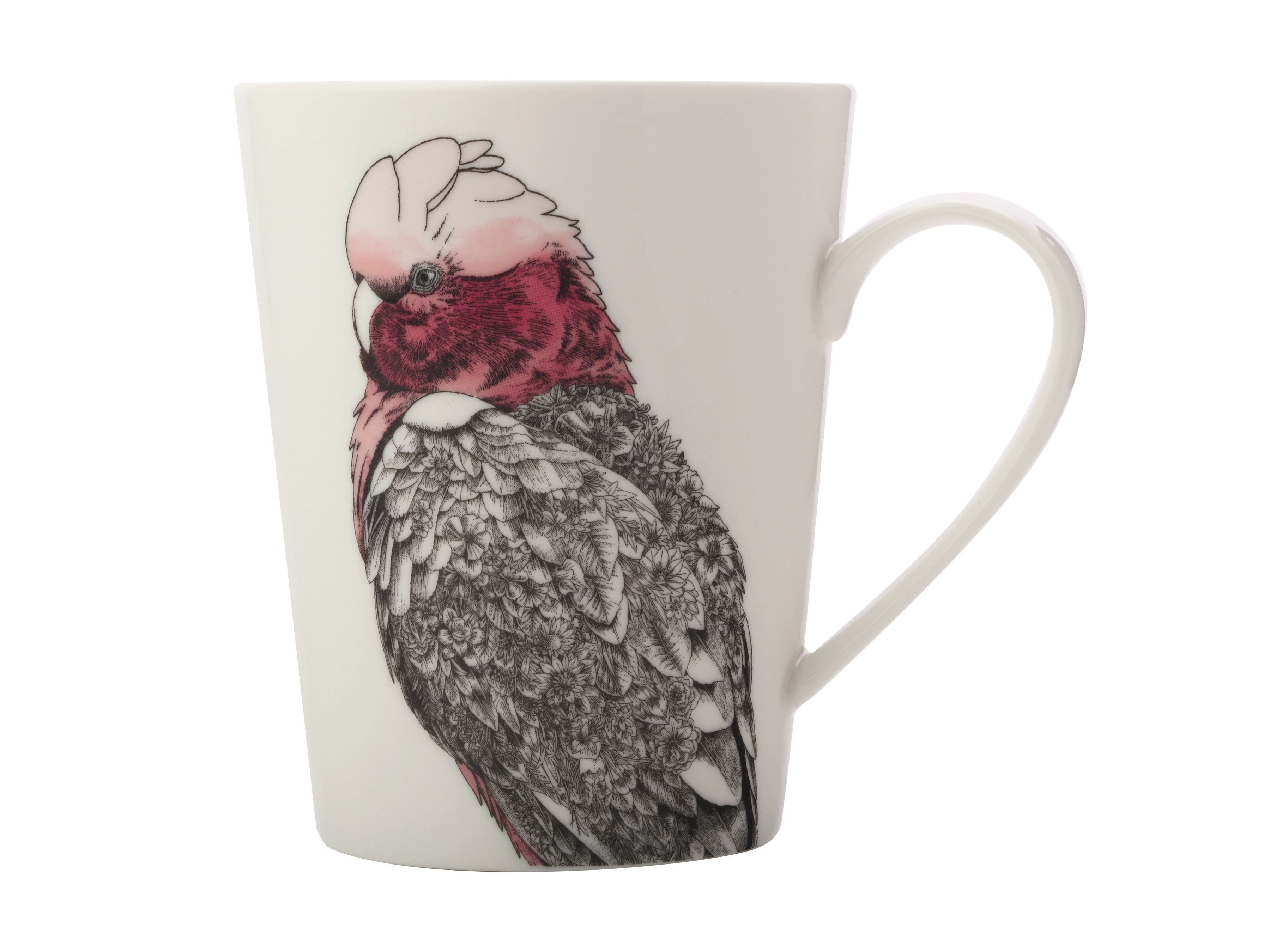 MW Marini Ferlazzo Birds Galah Mug, Bottle and Tea Towel Set