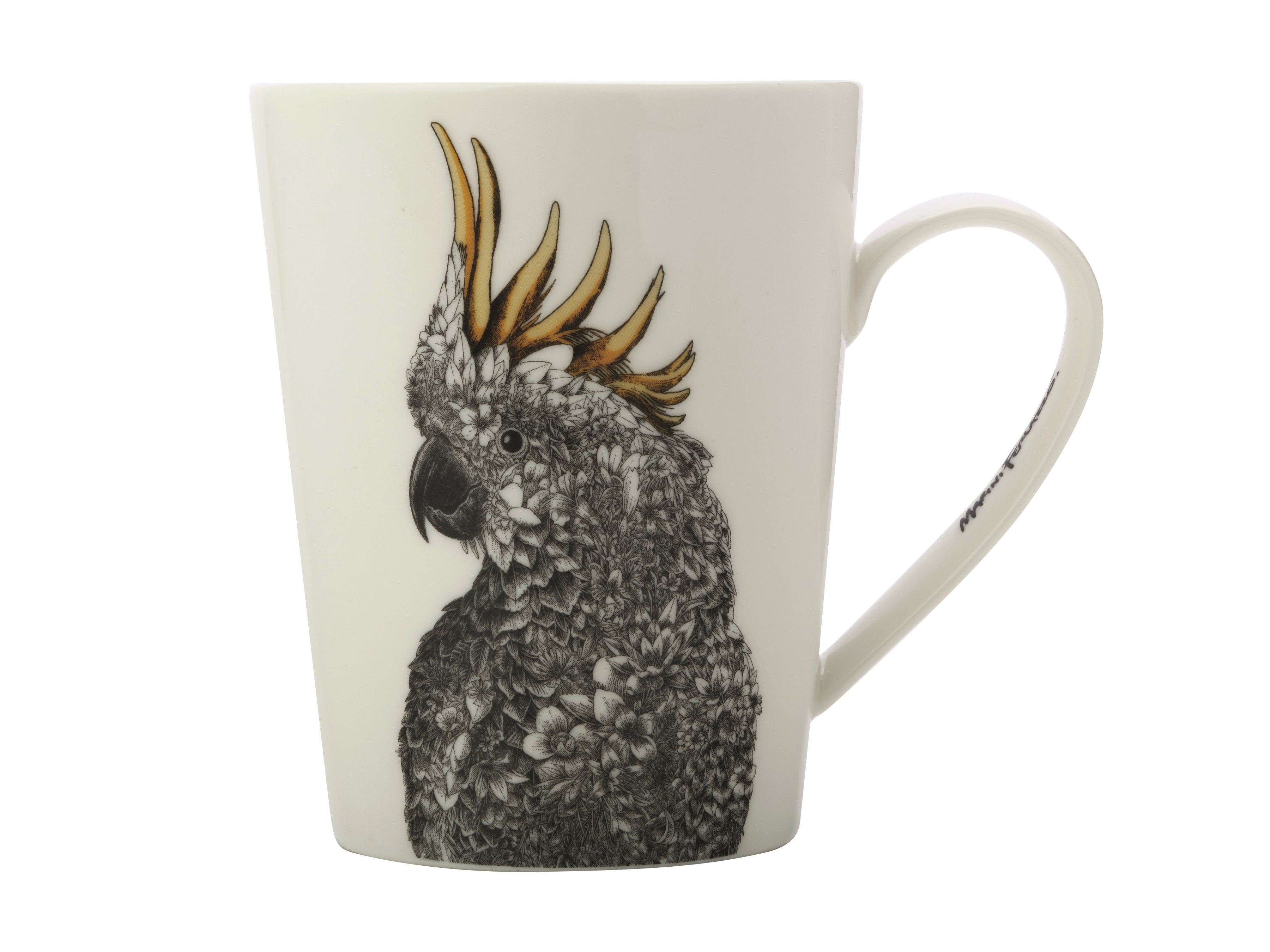 MW Marini Ferlazzo Birds Cockatoo Mug, Bottle and Tea Towel Set