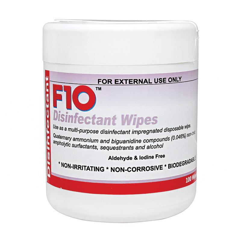 F10sc Veterinary Grade Disinfectant Hand Wipes