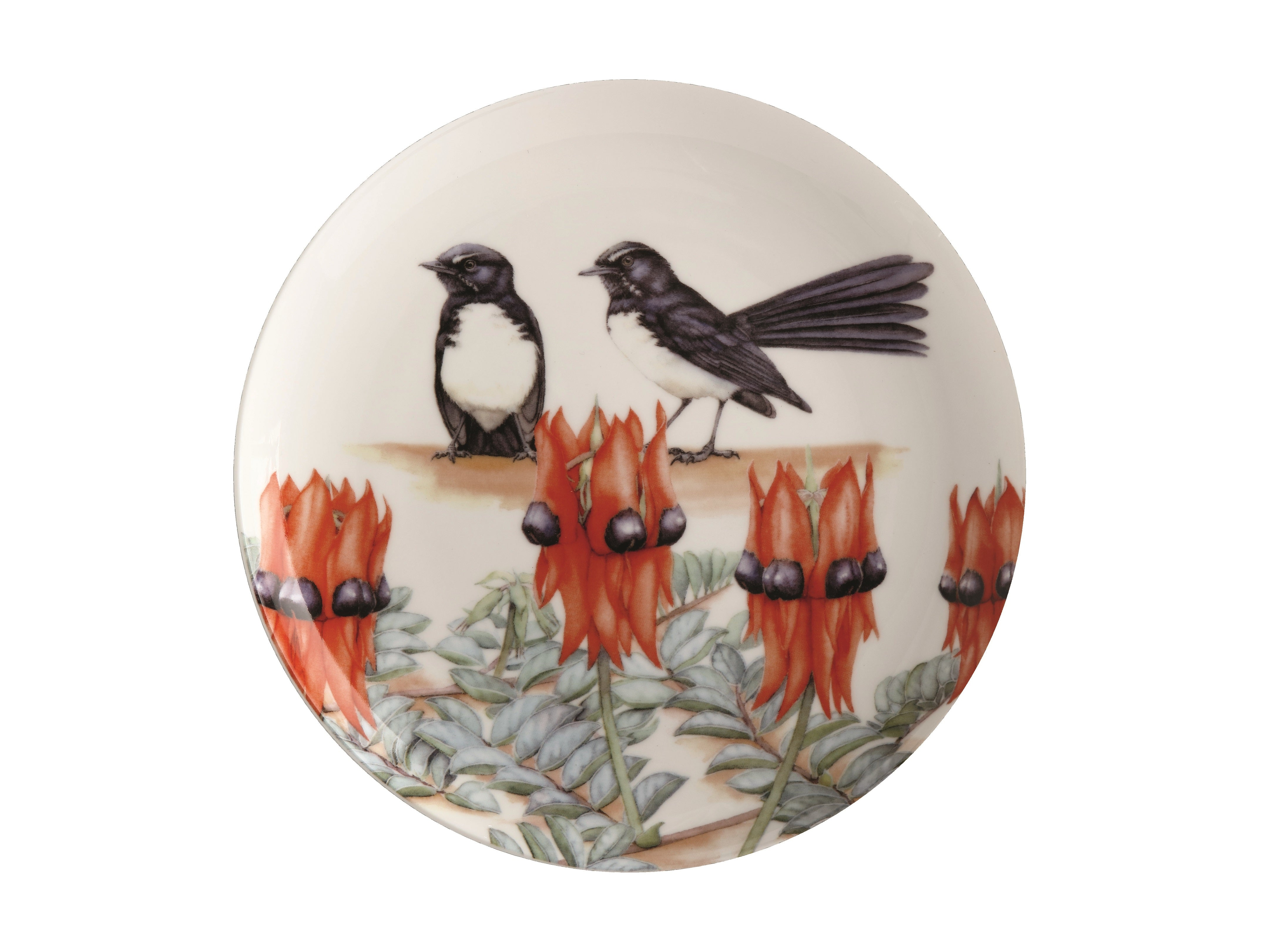 MW Royal Botanic Gardens - Garden Friends Plate 20cm Willy Wag Tail Gift Boxed