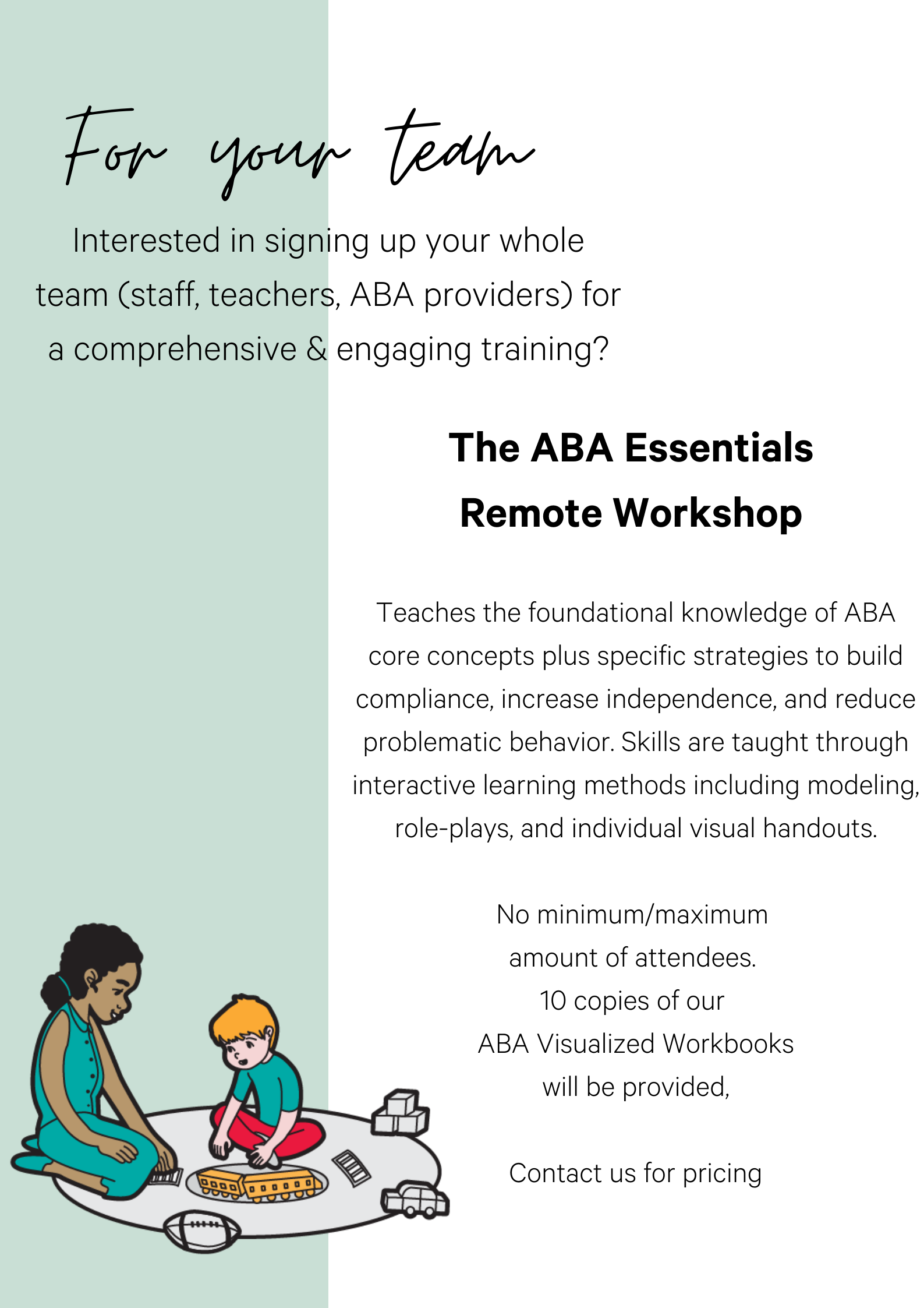 ABA Essentials Workshop for team