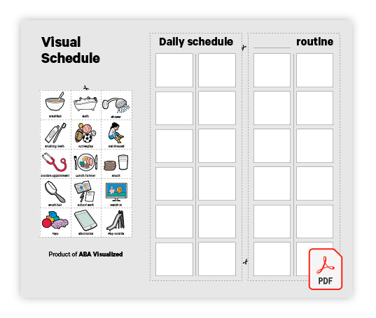 Visual Schedule Free ABA Resource