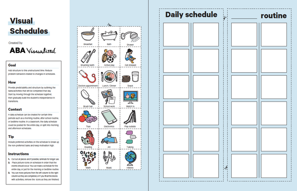 Visual Schedule for Distance Learning