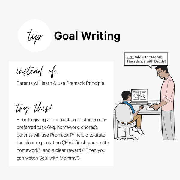 How to write parent training goals ABA