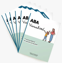 Load image into Gallery viewer, Workshop Package of ABA Visualized Guidebook as well as 5 times ABA Visualized Workbook (for parent ABA training)