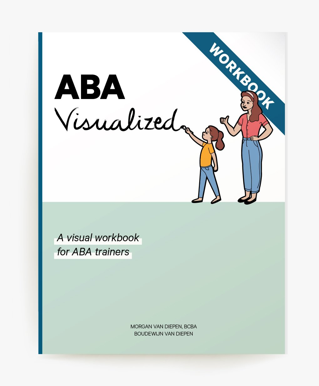 Cover of ABA Visualized A Visual Workbook for ABA Trainers (for parent training ABA workshops)