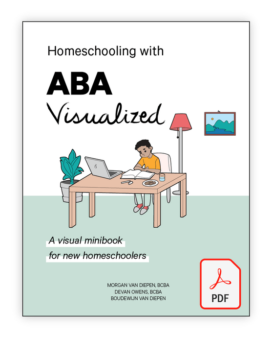 Homeschooling with ABA Visualized - A Visual minibook for new homeschoolers cover (pdf file)