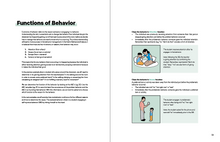 Load image into Gallery viewer, Functions of Behavior in the Book TeleHelp with ABA Visualized - A Visual Telehealth Guidebook for BCBAs