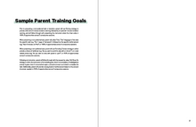 Load image into Gallery viewer, Sample parent training goals in the Book in the Book TeleHelp with ABA Visualized - A Visual Telehealth Guidebook for BCBAs