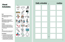 Load image into Gallery viewer, Visual Daily Schedule ABA Tool in the Book in the Book TeleHelp with ABA Visualized - A Visual Telehealth Guidebook for BCBAs