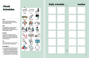 Visual Daily Schedule ABA Tool in the Book in the Book TeleHelp with ABA Visualized - A Visual Telehealth Guidebook for BCBAs