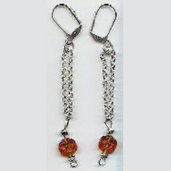 Amber Drops Earrings