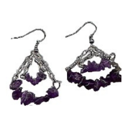 Amethyst Swings Earrings