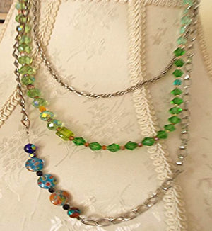 Asymmetrical Glass Bead Necklace
