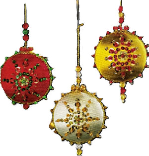 Beaded Satin Beauties Ornaments