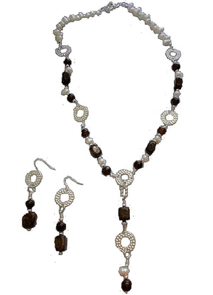 Beautiful Bronzite Jewelry Set