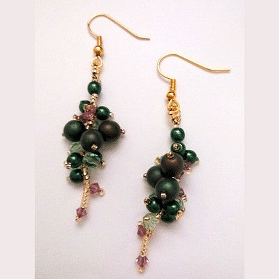 Berry and Vine Earrings