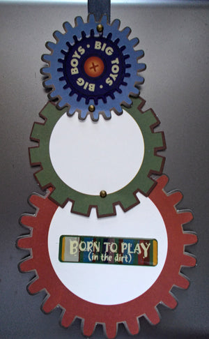 Big Boys Big Toys Hanging Card (from kit)
