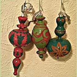 Brightly Flocked Ornaments