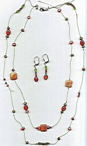 Canyon Sunset Necklace and Earrings Set