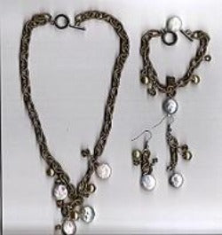Coin Pearl Jewelry Set