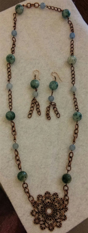 Copper Connections Jewelry Set custom order version