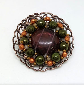 Filigree Beaded Pin
