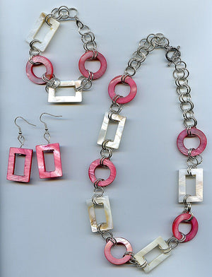 Geometric Shells Jewelry Set
