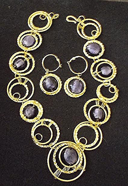 Golden Collar Jewelry Set