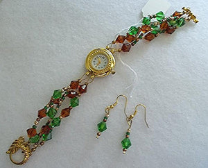 Golden Watch Jewelry Set