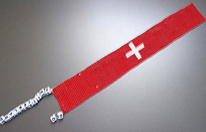 GO! Switzerland Beaded Bookmark
