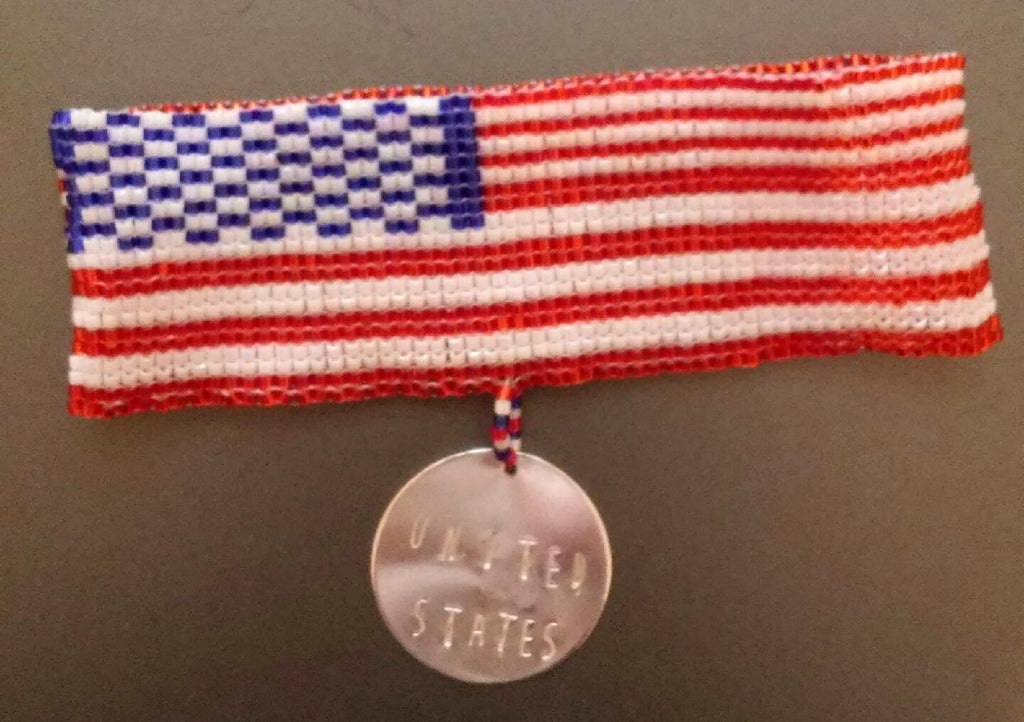 GO! United States Silver Charm Bracelet Woven