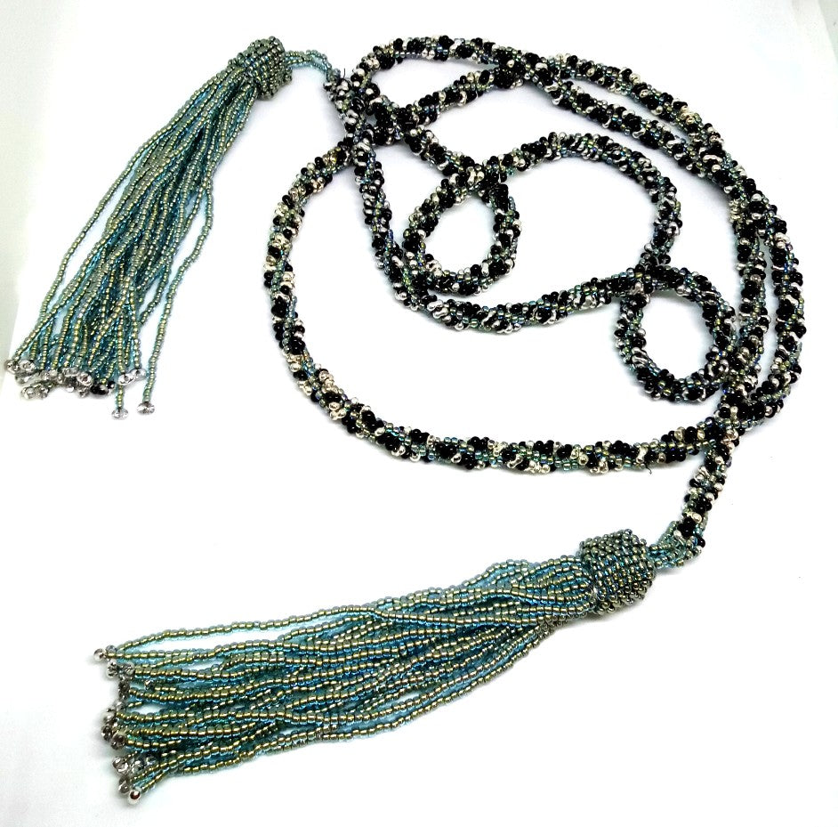 Twists and Tassels Lariat Necklace