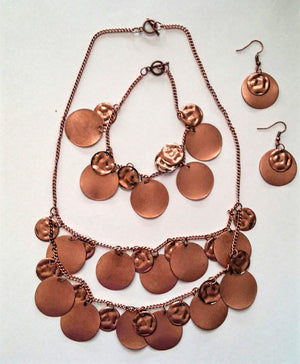Layered in Copper Jewelry Set