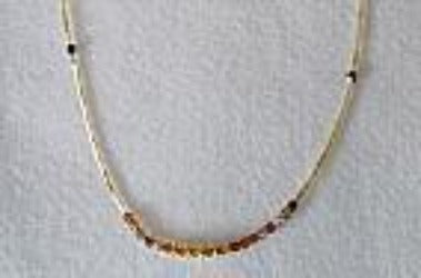 The Lillystone Collection Classic Brown and Gold Beaded Necklace