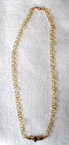The Lillystone Collection Classic Brown and Gold Chain Necklace