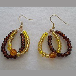 The Lillystone Collection Classic Brown and Gold Loops Earrings