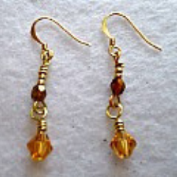 The Lillystone Collection Classic Gold Beaded Earrings