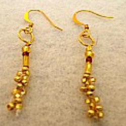 The Lillystone Collection Classic Golden Bead Earrings