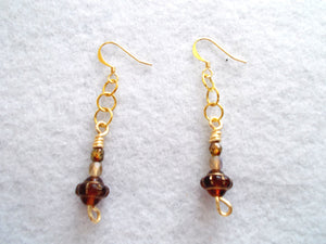 The Lillystone Collection Classic Lampwork and Chain Earrings
