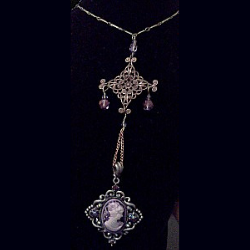 Rhapsody In Violet Pendant Necklace